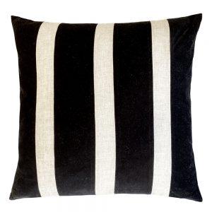 Bande 50cm black indoor cushion
