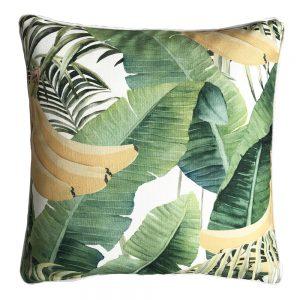 Daydream banana green outdoor cushion