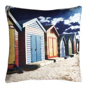Daydream beach huts multi outdoor cushion