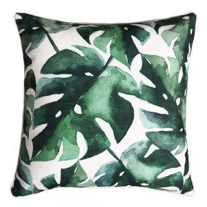 Daydream leaf green outdoor cushion