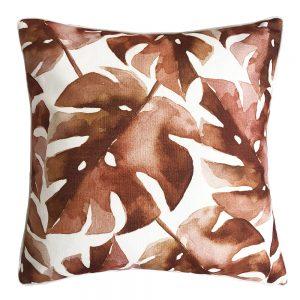 Daydream leaf terracotta outdoor cushion