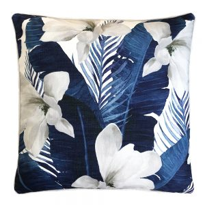 Daydream magnolia navy outdoor cushion