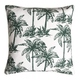 Daydream palm green outdoor cushion