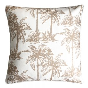 Daydream palm natural outdoor cushion