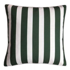 Daydream stripe green outdoor cushion