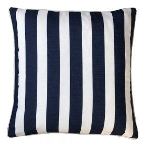Daydream stripe navy outdoor cushion