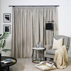 HAVEN PENCIL PLEAT CLAY CURTAIN