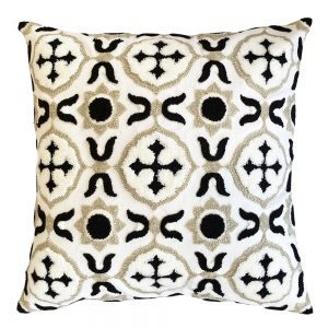 Milan 45cm black indoor cushion