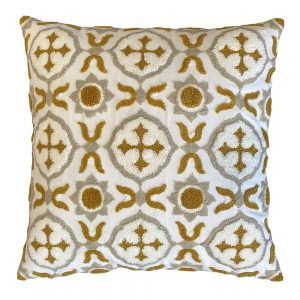 Milan 45cm ochre indoor cushion